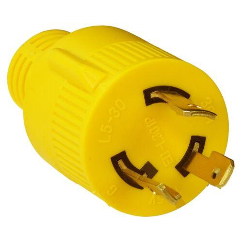 "RV 30 AMP 3-Prong Generator Adapter 30amp Male Plug to 30amp Female TT-30R 18/"""