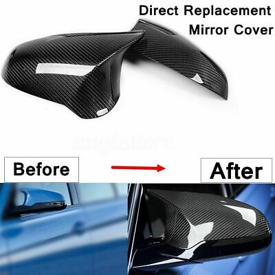 Carbon Fiber Side Mirror Cover Direct Replacement For 15-18 BMW F80 M3 F82 M4