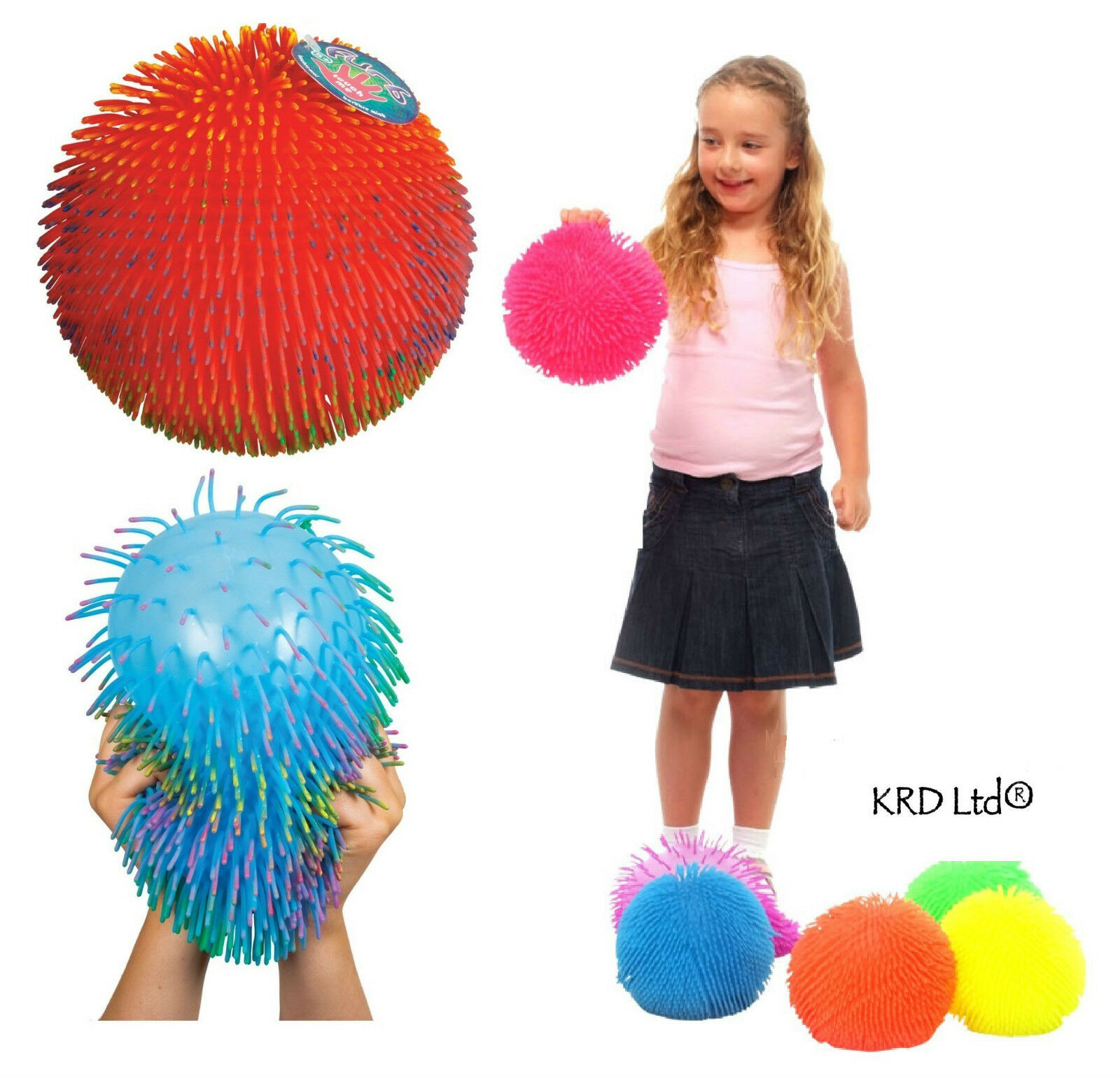 Puffer Ball Toys : Large puffer ball furb squashy tactile sensory autism