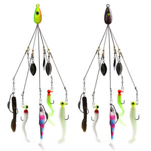 5 Arms 4 Blades Umbrella Alabama Rig for Bass Crappie Lure Fishing Bait 18g GL
