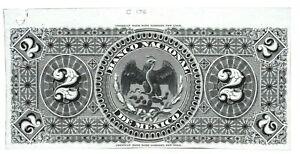 El-Banco-Nacional-de-Mexico-reverse-PROOF-test-print-M297-Scarce