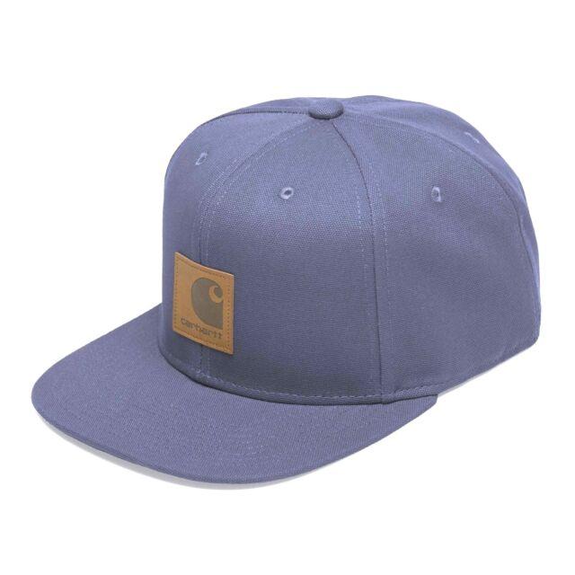 Cappellino Carhartt Logo Cap Blu Snapback Cappello da Uomo con Visiera  piatta fbbf522cbfff