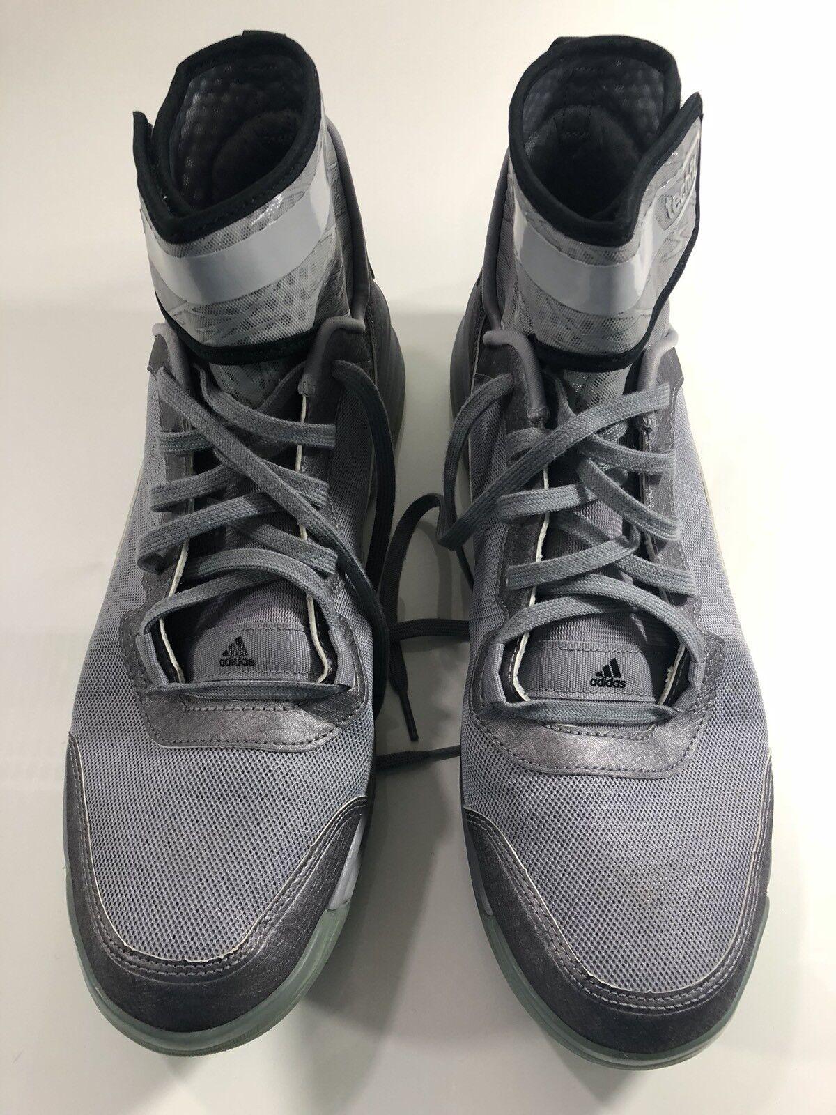 d97edeae909bfe Adidas Adiprene Techfit Dual Thread Basketball Basketball Basketball Mens  Shoes Gray 13 Preowned 7dd503