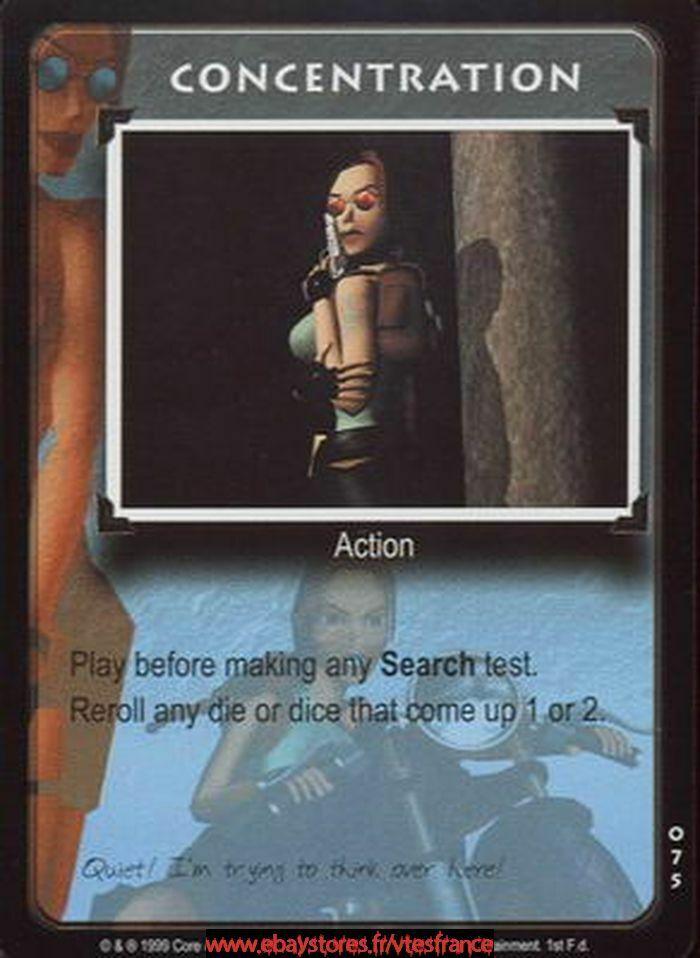 Tomb Raider CCG Concentration #075 Base Set