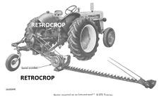 Ih International Harvester 120 2pt 3pt Hitch Balanced Head Sickle Mower Manual