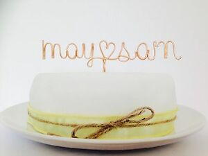 PRICE-PER-LETTER-Personalised-Name-Wire-Cake-Topper-Wedding-Birthday-Names