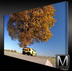 Lamborghini Gallardo Echte Leinwand Bild Canvas Art Kunstdruck Leinwandbild Automobilia