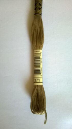 DMC 8 metre cotton cross stitch thread DMC 371 Mustard ART 117MC Quantity 1
