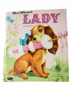 Walt Disney's Lady Authorized Edition Children's Book Color-Illustrated 1954