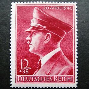 Germany Nazi 1942 Stamp MNH Adolf Hitler 53rd birthday WWII Third Reich German D