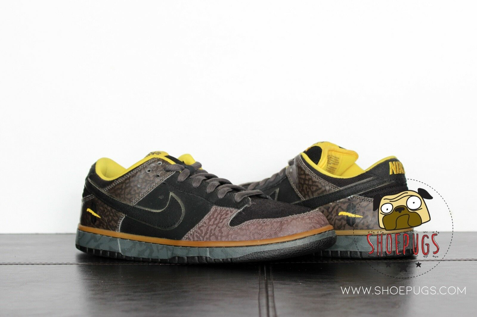2010 Nike SB Dunk Low Yellow Curb sz 9.5 w  Box fog yellow   TRUSTED SELLER