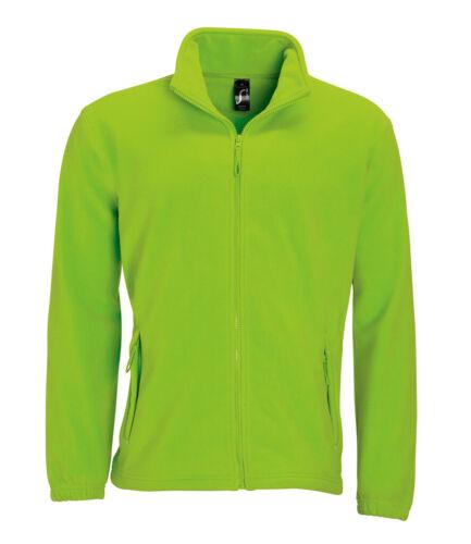XS 17 Colours Mens Mans Warm Polyester Fleece Zip Jacket 5XL