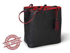 ad0ccff397c6 Image is loading C7-Corvette-Stingray-Red-amp-Black-Tote-Bag
