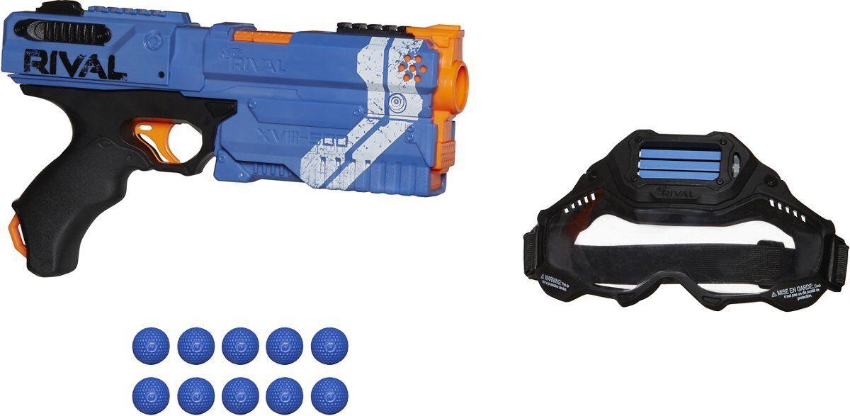 Rare  Nerf Rival Kronos XVIII-500 Battle Battle Battle Set Team bluee Blaster Kit  NEW IN BOX  712bbb