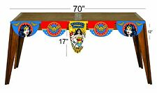 Wonder Woman  happy birthday party decoration table banner