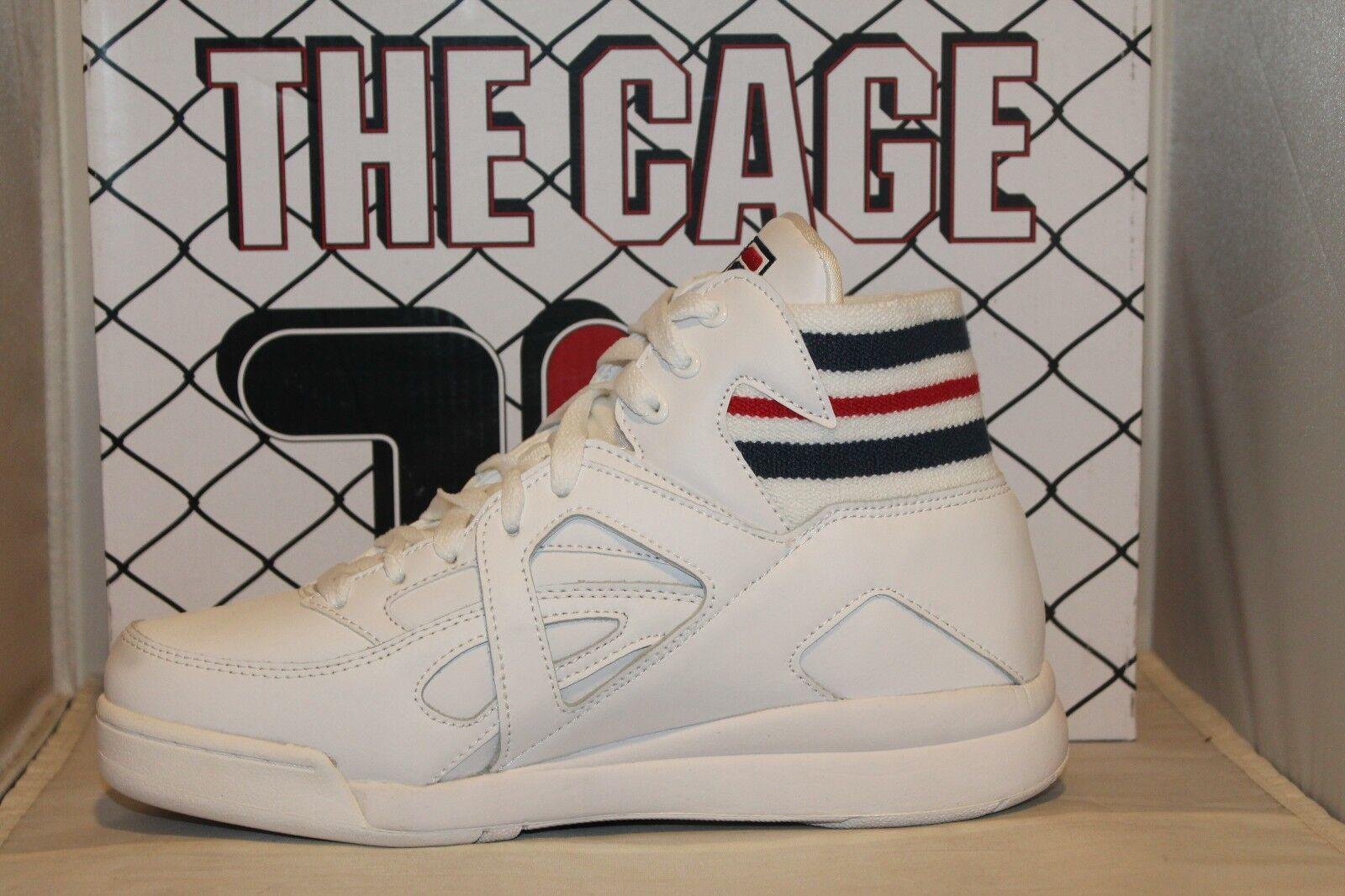High Fila Cage Navy Top Retro Classic Weiß The Mid Rot Uomo HdB0qq