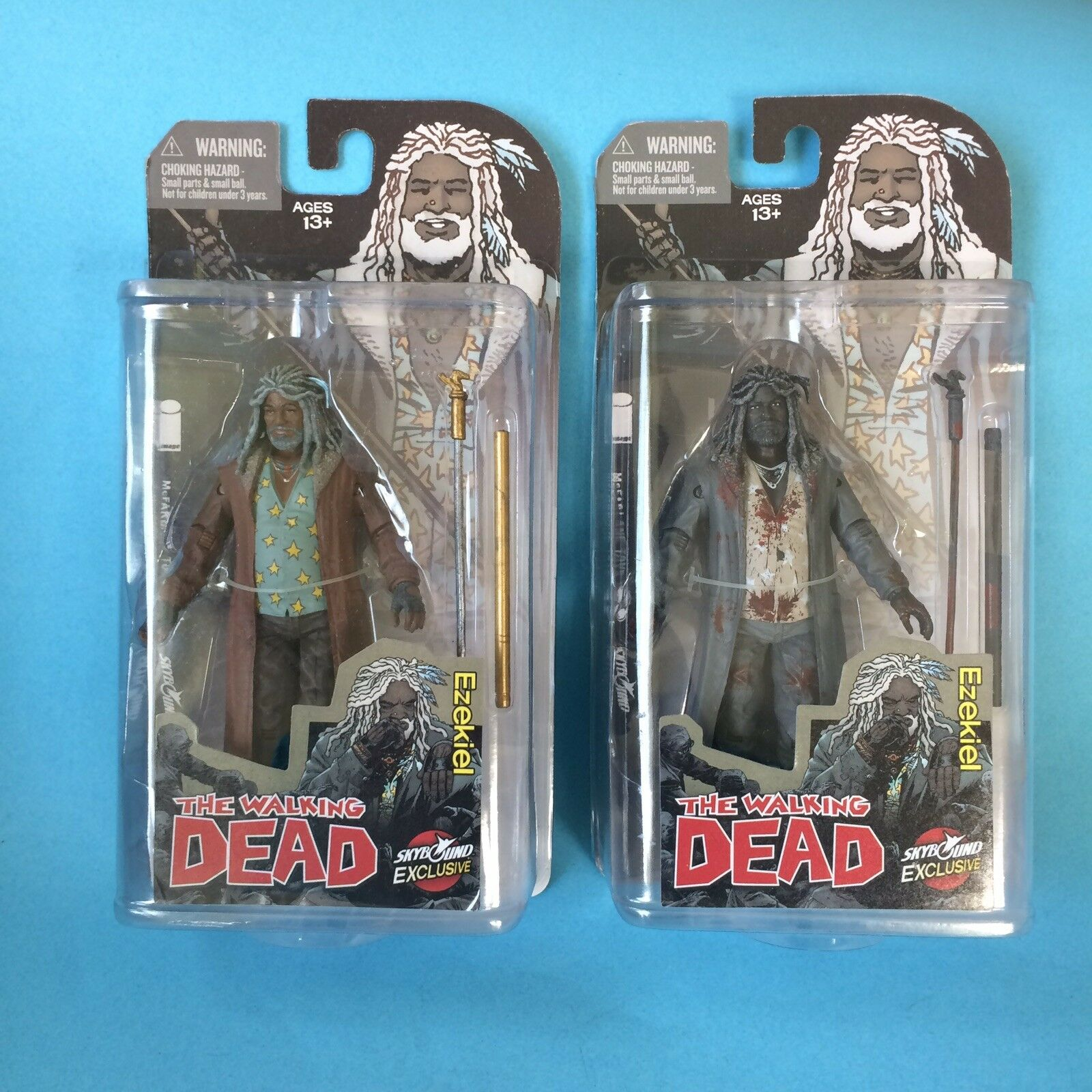 SDCC 2014 Skybound Walking Dead Ezekiel and Bloody Ezekiel MIB