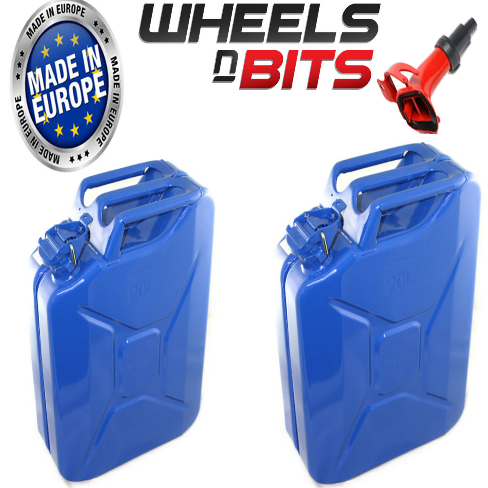 2 x  20l blue Jerry Militare Lattine Combustibile Olio Benzina Diesel Deposito  online at best price