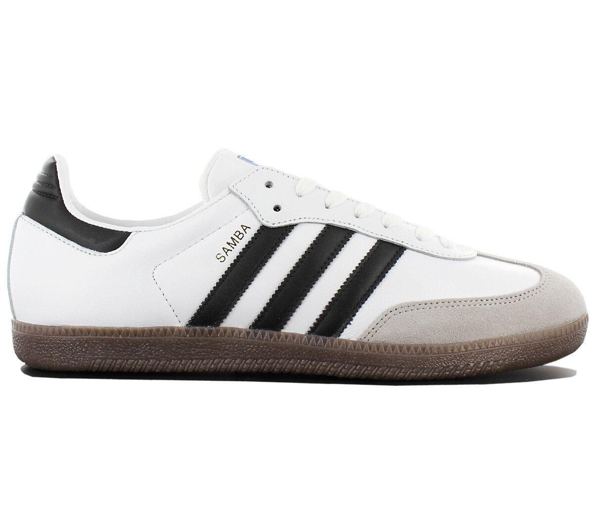 adidas Originals Samba Leather OG Herren Sneaker Schuhe Leder Retro BB2588 Weiß