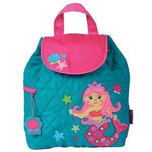 4c0eaf98fb513d Image is loading Stephen-Joseph-Girls-Quilted-Mermaid-Backpack-Cute-Toddler-