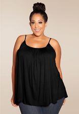 Plus Size Top Cami 1X-6X USA MADE Rayon Spandex SWAK Pink Blue Green Gray Black