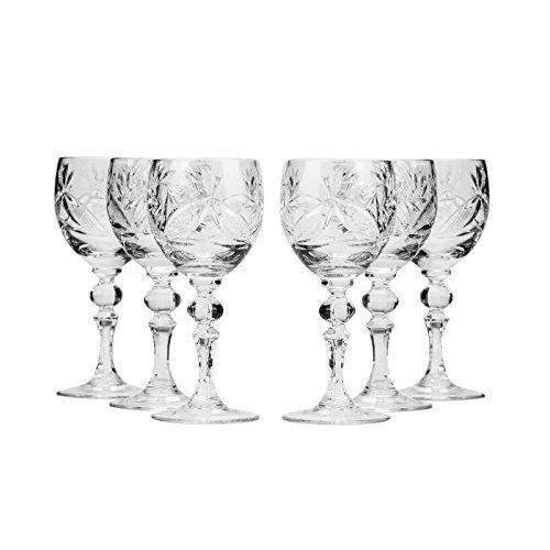 Lot de 6 neman Glassworks, 2-Oz fait main vintage russe verres cristal