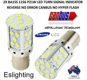 2X-BA15S-1156-P21W-REVERSE-BACK-UP-LED-TURN-SIGNAL-INDICATOR-BULB-GLOBE-WHITE