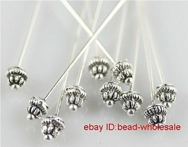 Free Shipping 20pcs Retro Silver Tone Finding Diy Long Head Pins 55x5mm