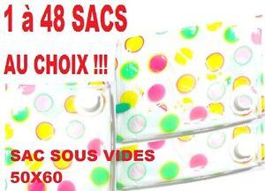 1 à 48 Housses De Rangement 50x60 Sac Sous Vide Protection Vetements Couettes