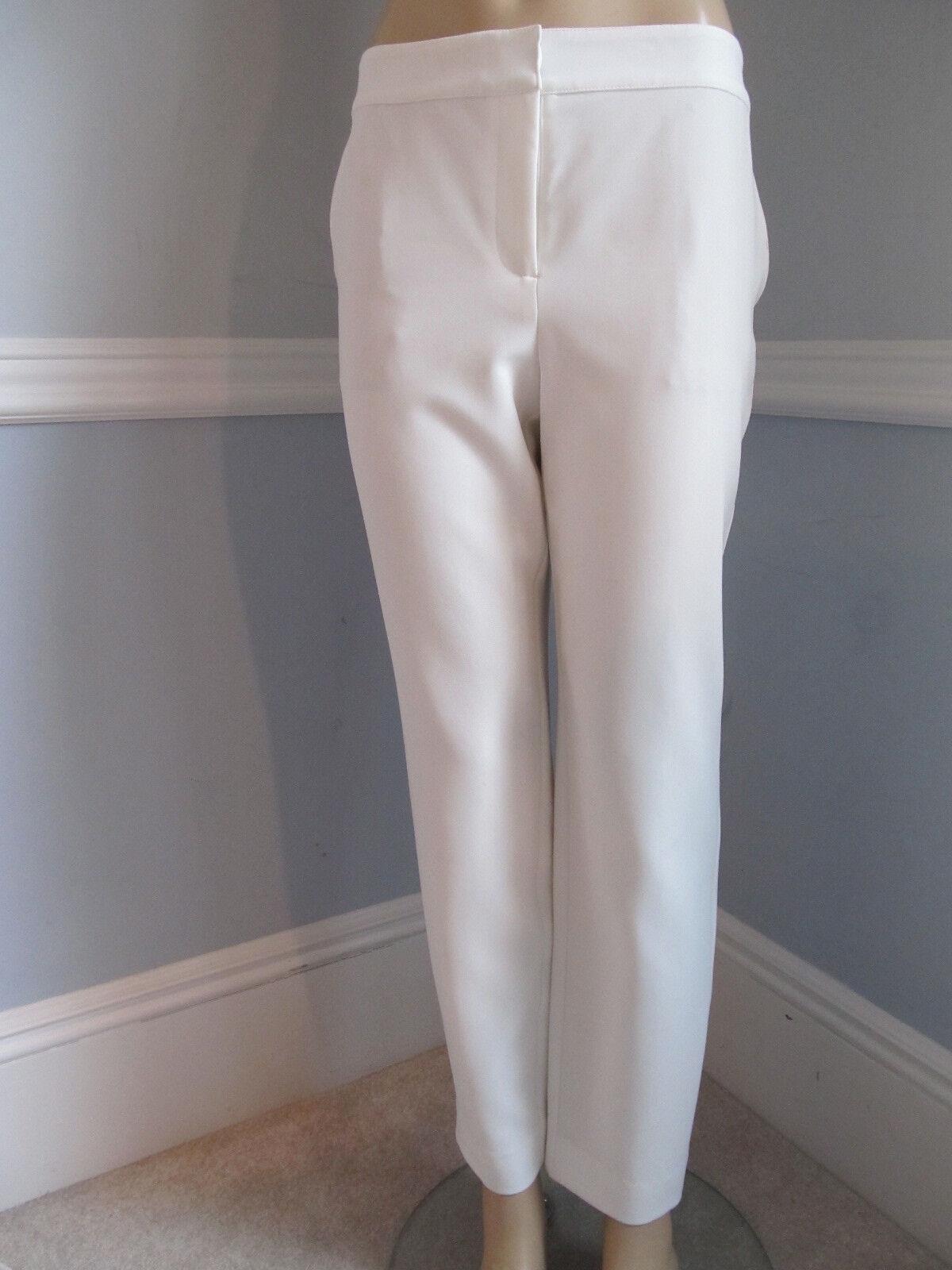 NEW  ST JOHN KNIT SIZE 6 WOMENS PANTS WHITE CREAM COLOR EMMA STRAIGHT LEG