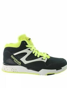 67b79b1fc0d7 Reebok PUMP Omni Lite Mens Basketball Shoes 9.5 Dark Blue Navy Neon ...