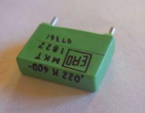 Lot de 2 Condensateur 22nF 400V 10% MKT p=10mm ERO 1822 - France - État : Neuf : autre (voir les détails): Objet neuf n'ayant jamais servi, sans aucune marque d'usure. L'emballage d'origine peut tre manquant ou la bote de l'objet peut avoir été ouverte et non rescellée. objet neuf n'ayant jamais servi, avec - France