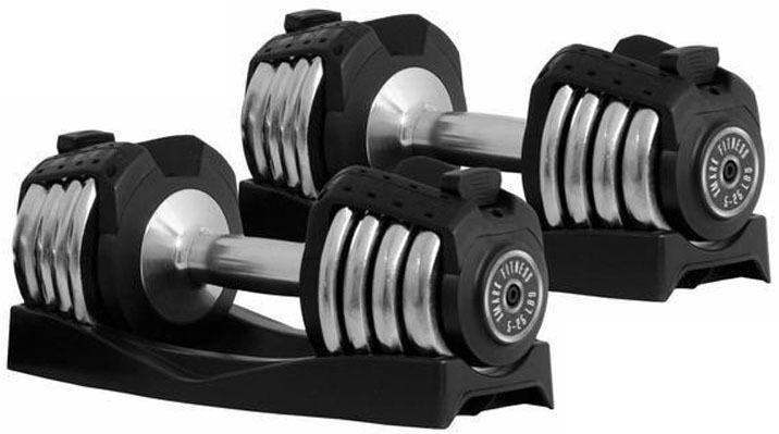 XMark 5-25 lb Adjustable Dumbbell Pair Set of 2 Dumbbells XM-3305 NEW