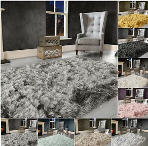 Modern-Large-Extra-Thick-9cm-High-Pile-SHAGGY-Floor-RUG-with-SPARKLE-SHIMMER