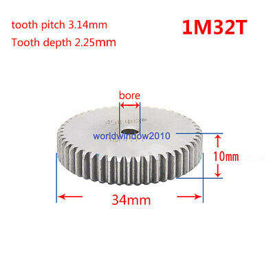 1Mod 18T Spur Gears #45 Steel Pinion Gear Tooth Diameter 18MM Thickness 10MM