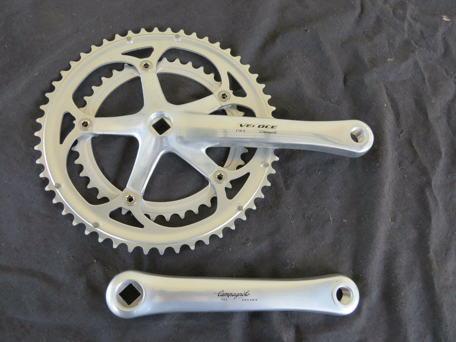 172.5  CAMPAGNOLO 9 SPEED 39 53  VELOCE CRANK SET  BICYCLE TOURING