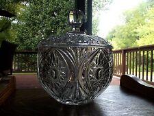 Large Punch Bowl w/ Lid serving heavy Glass Crystal Nachtmann Florenz
