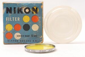 Shipped-in-24-Hours-Nippon-Kogaku-Nikon-Screw-In-Mount-Y48-52mm-Lens-Filter