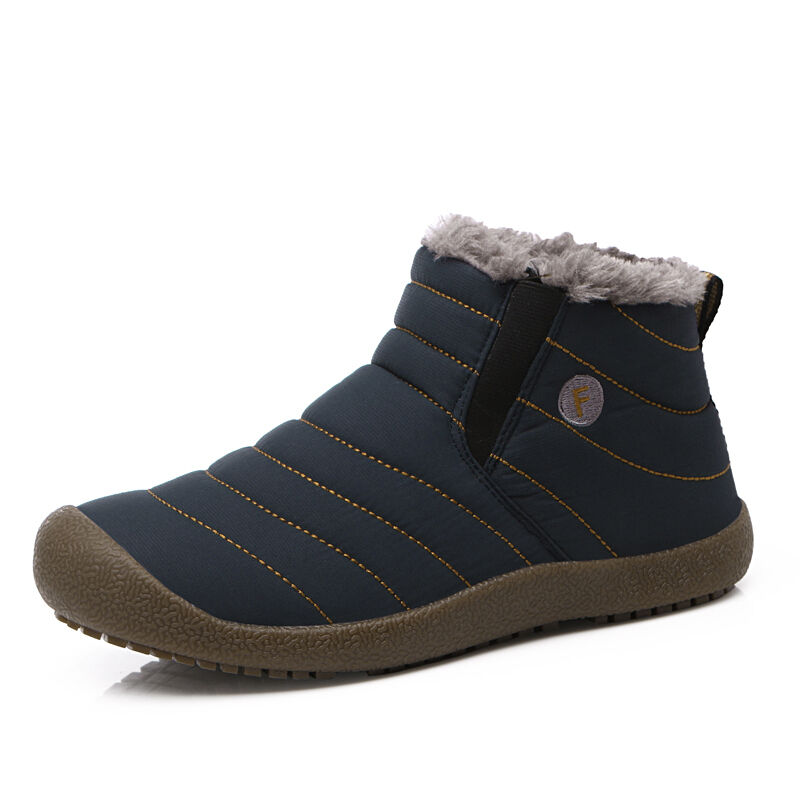 Mens Winter Snow Boots Big Size Fur Lined Thick Warm Hiking Outdoor Sport Shoes