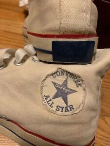 Details about Vintage 60s CONVERSE CHUCK TAYLOR ALL STAR Sneaker High Top Blue Label Shoes.