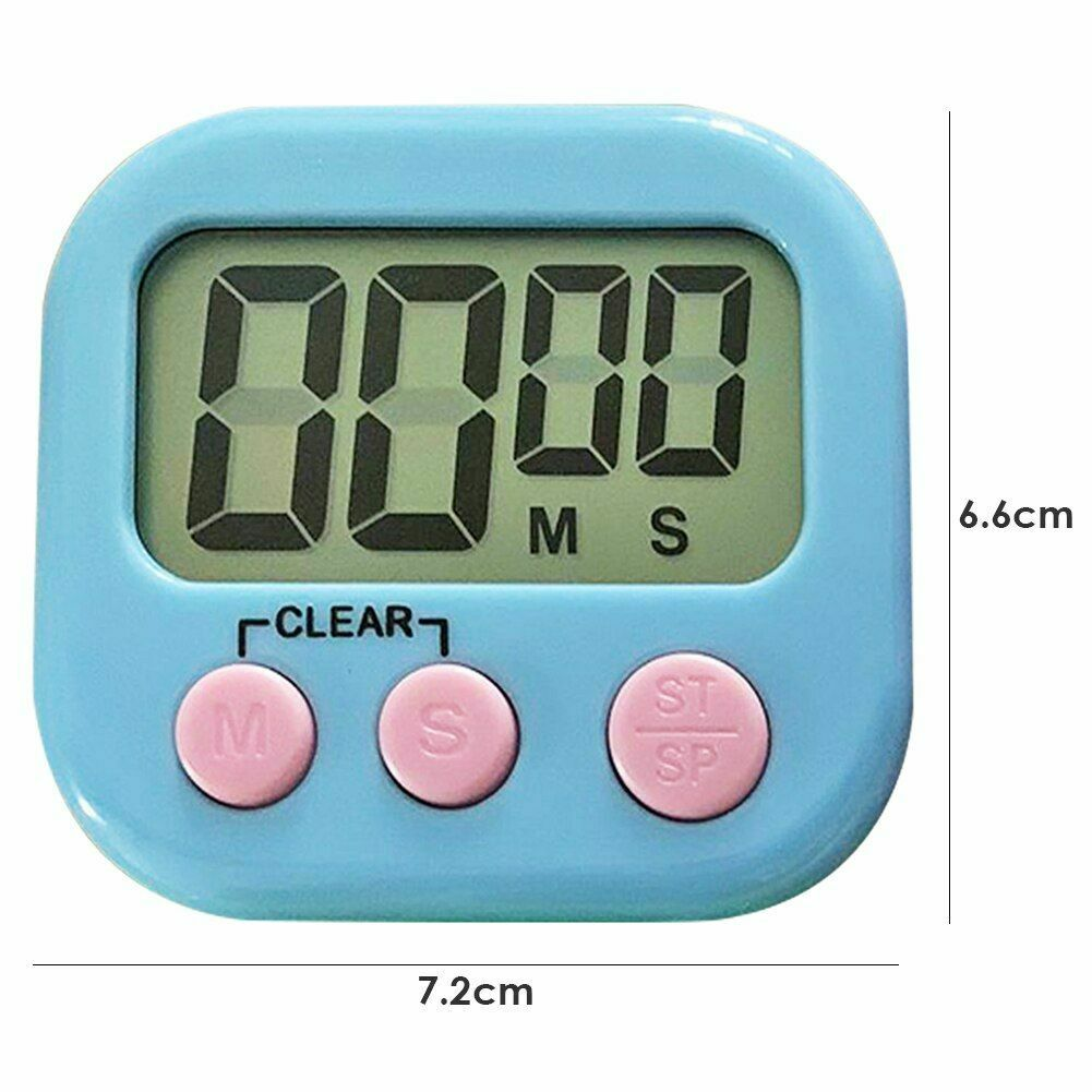 Black LCD Digital Kitchen Cooking Timer Count-Down Alarm Magnetic ATF