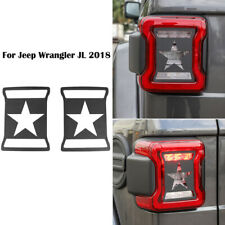 For Jeep Wrangler Jl 2018 Tail Light Guards Lamp Trim Protector Cover Kit 2pcs Fits Jeep
