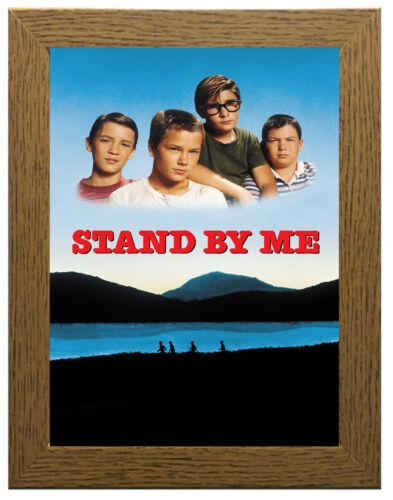 Stand By Me Classic Movie Poster Canvas Framed Art Print A3 A4 Sizes
