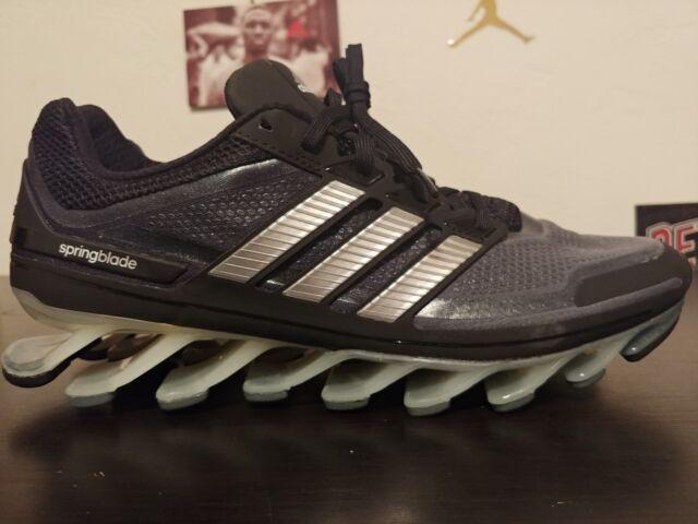 Adidas Springblade Running Shoes G66648 AdiPower BlackSilver Men's Size 1112