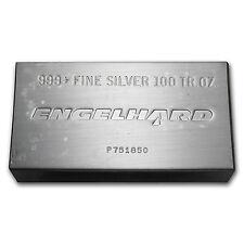 100 oz Engelhard Silver Bar - Struck Silver Bar - Original Plastic - SKU #61773