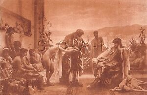 Original-Vintage-Artistic-French-Nude-PC-Early-1910s-20s-Slave-Harem
