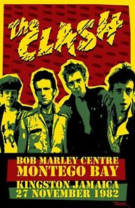 Details about the Clash 1982 - Concert VINTAGE BAND Music POSTERS Rock  Travel Old Advert #ob