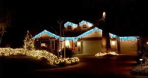 960 LED 23.9M BLUE/WHITE ICICLE CHRISTMAS LIGHTS WITH 8 FUNCTIONS & MEMORY