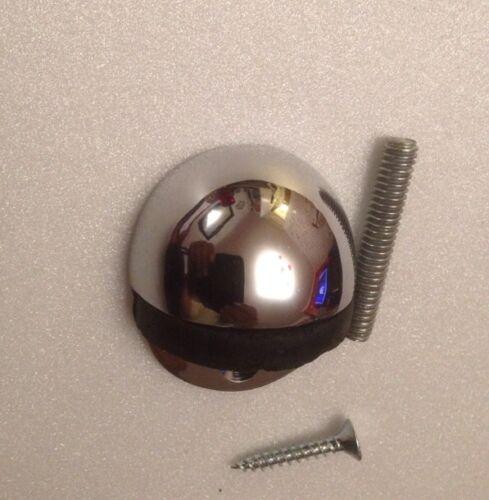 Ovale butée de porte en acier inoxydable poli ovale à capuche butée de porte JPS08