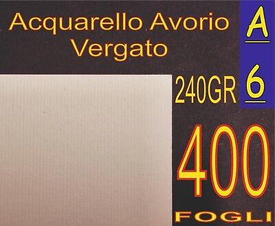 400 Ff Di Carta Acquarello Avorio X Stampanti Laser Inkjet A6 240gr